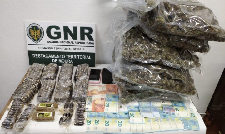 GNR deteve casal e apreendeu mais de 11 mil doses de droga