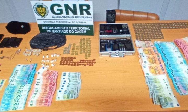 Homem detido por tráfico de droga em Sines