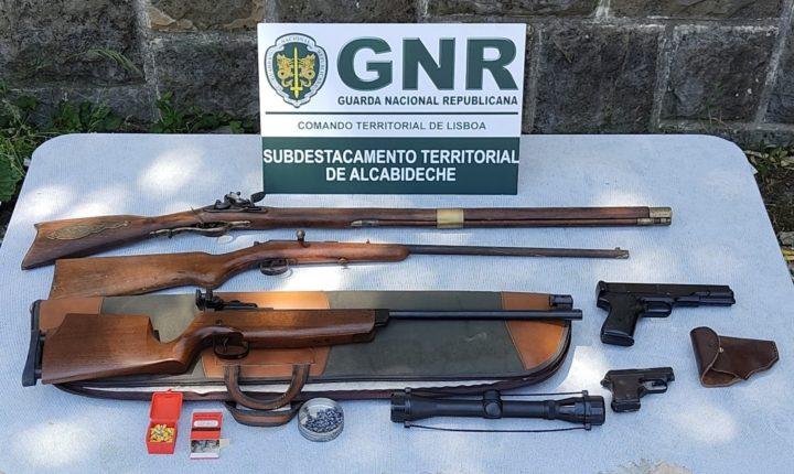 Apreensão de armas por violência doméstica em Évora e Sintra