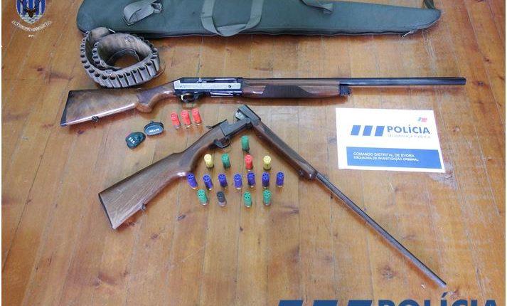 PSP de Évora apreende armas e munições em processo de violência doméstica