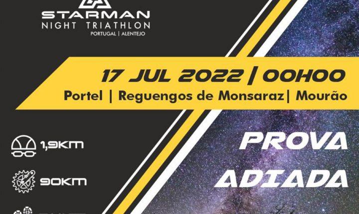 Starman Night Triathlon adiado para 17 de julho de 2022