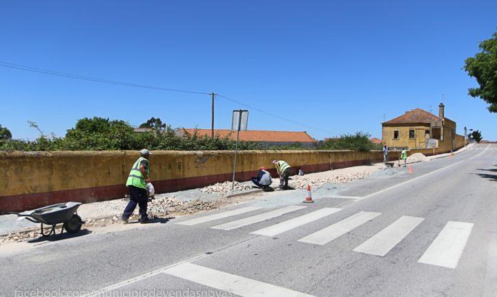 Vendas Novas investe mais de 90 mil euros na melhoria dos passeios