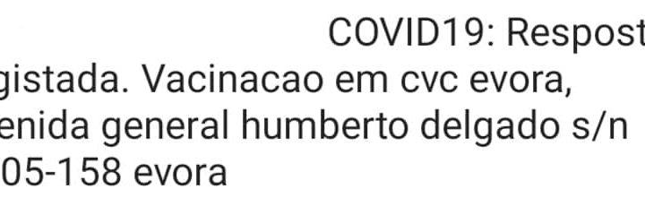 SMS para vacinação em Évora encaminha utentes para local errado