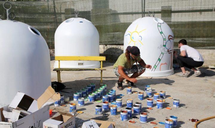 Jovens artistas aceitam desafio e pintam vidrões do concelho de Montemor-o-Novo