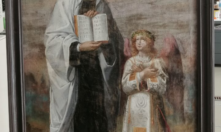 "Palácio de D.Manuel recebe pintura restaurada ""Santa Francisca Romana"""