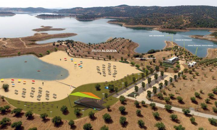 """Alqueva """"ganha"""" nova praia na aldeia que deu nome à barragem"""