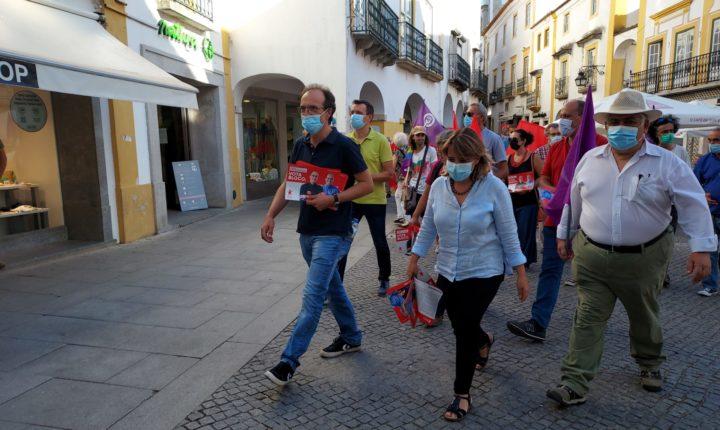 Candidato do BE em Évora conta com apoio da líder do partido