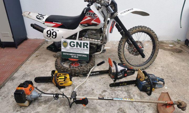 GNR recupera material furtado em Vidigueira